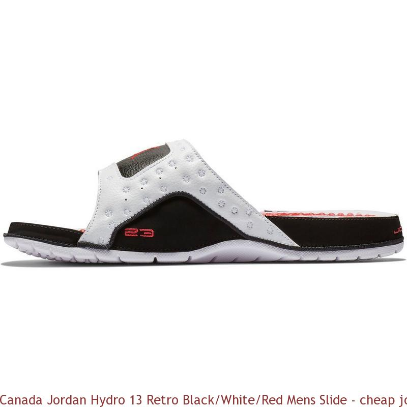 a5311a448aea Canada Jordan Hydro 13 Retro Black White Red Mens Slide – cheap jordan shoes  ...