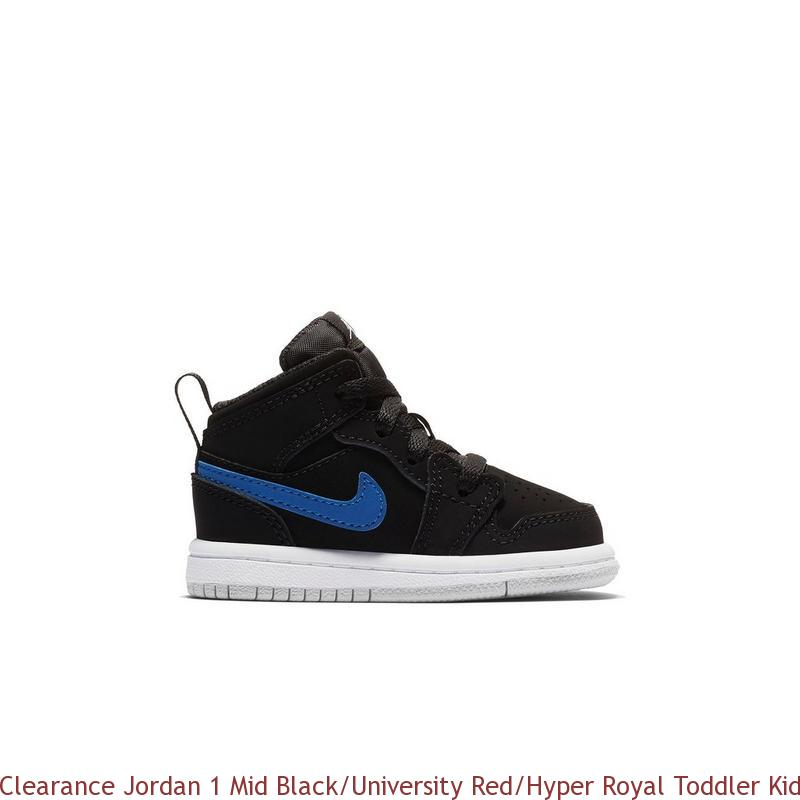 buy popular b8362 28cca Clearance Jordan 1 Mid Black/University Red/Hyper Royal Toddler Kids Shoe -  cheap jordans wholesale free shipping - R0291
