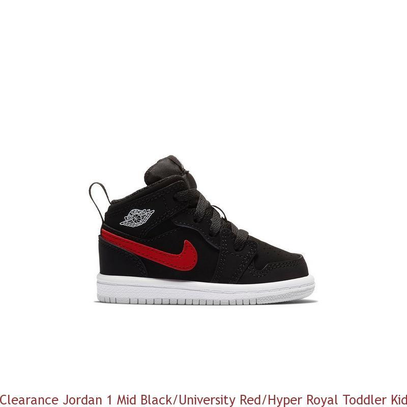 buy popular 40a69 76027 Clearance Jordan 1 Mid Black/University Red/Hyper Royal Toddler Kids Shoe -  cheap jordans wholesale free shipping - R0291