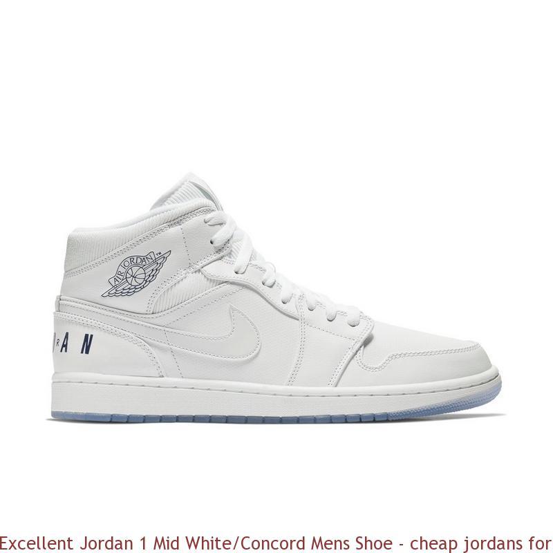 Excellent Jordan 1 Mid White/Concord Mens Shoe – cheap jordans for ...