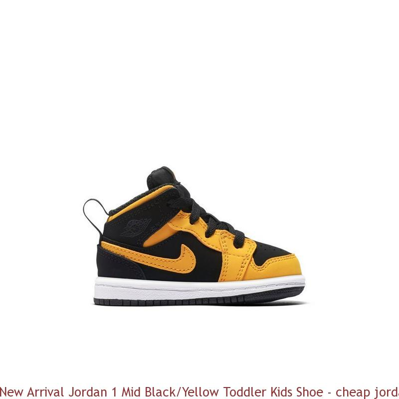 differently 79553 f988f New Arrival Jordan 1 Mid Black/Yellow Toddler Kids Shoe - cheap jordans  size 4 - R0294