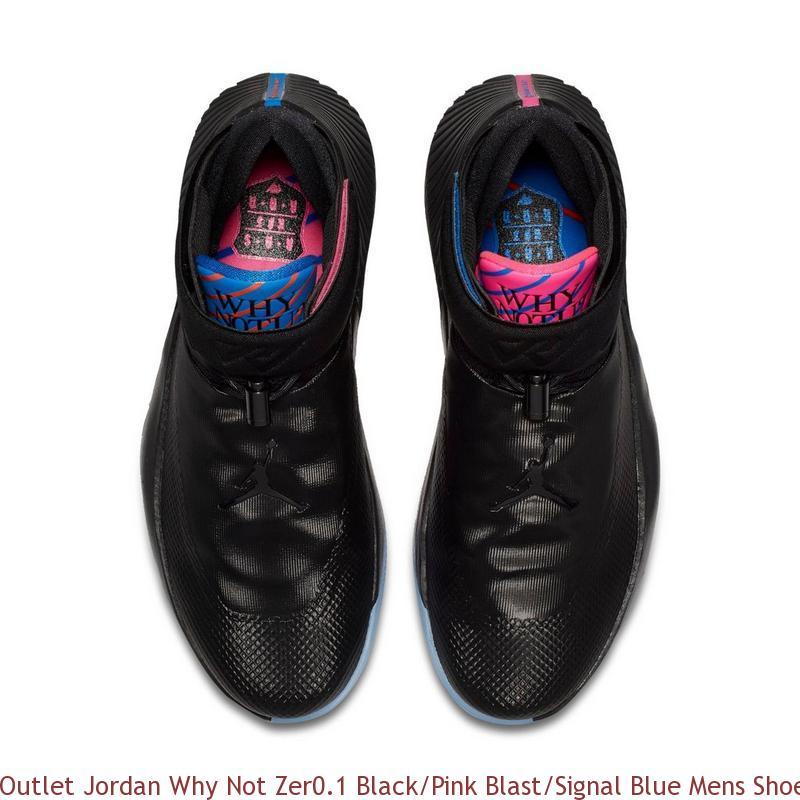 Outlet Jordan Why Not Zer0.1 Black Pink Blast Signal Blue Mens Shoe ... 926614c15135