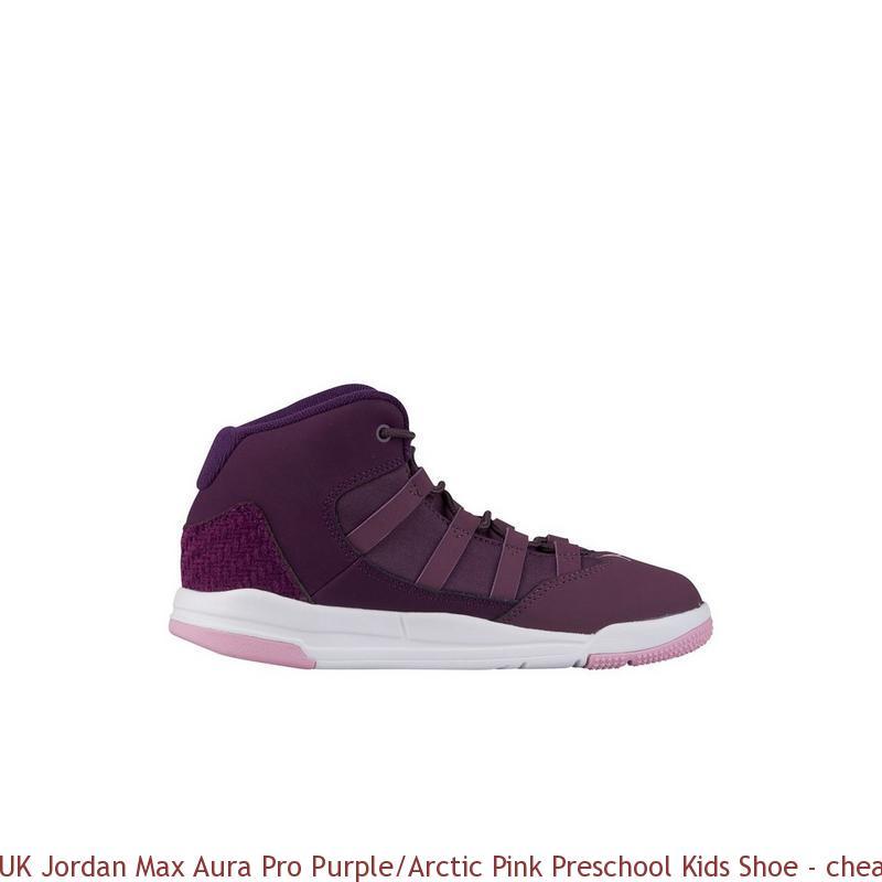 UK Jordan Max Aura Pro Purple/Arctic Pink Preschool Kids Shoe ...