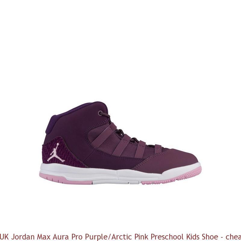 newest 01e14 932bc UK Jordan Max Aura Pro Purple Arctic Pink Preschool Kids Shoe ...